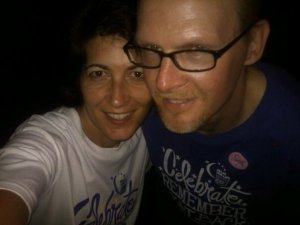 In the 11th hour of Relay 2011. Dave had just finished chemo and radiation.