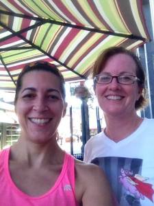 One of our post run coffee selfies. Summer 2013.