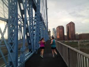 We love running bridges on long, Saturday treks.