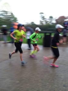 Breezing over the finish like nobody's business.
